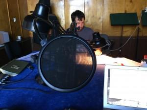 Darbas LRT įrašų studijoje. Tomo Vaisetos nuotrauka
