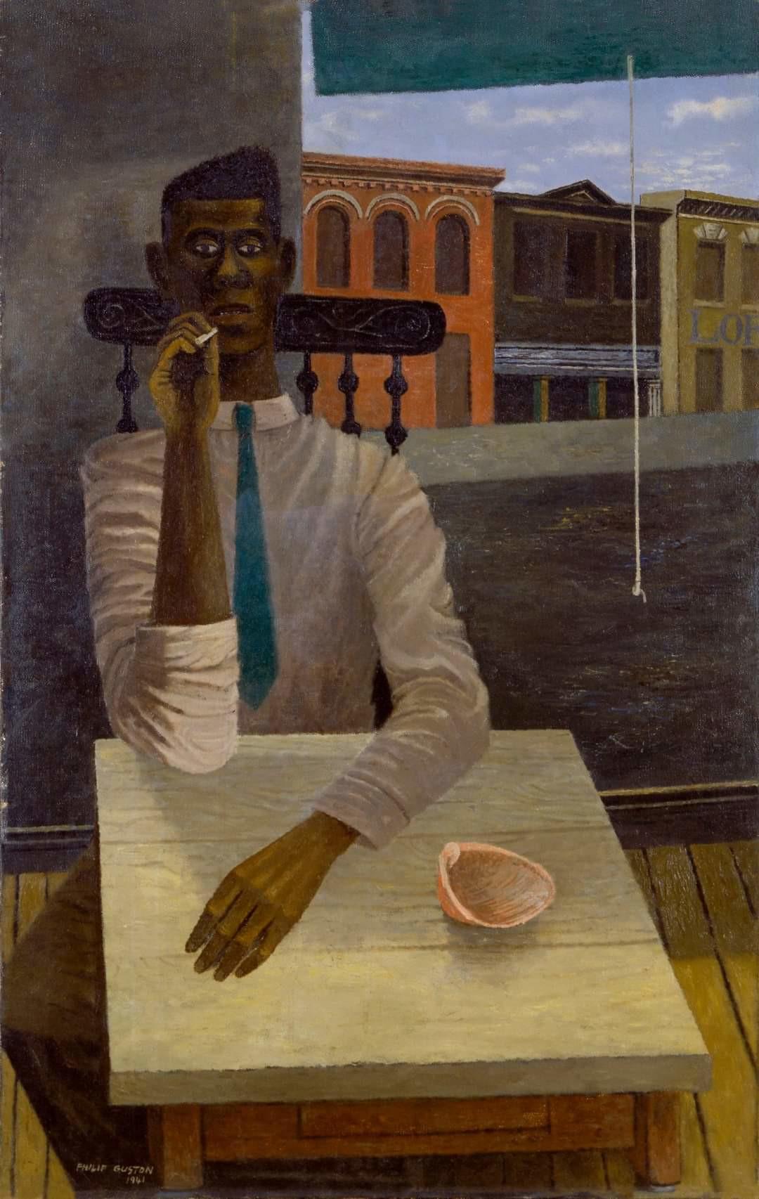 Philip Guston. Sekmadienio interjeras. 1941