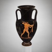 Amfora, vaizduojanti Dzeusą, svetimšalių globėją. V a. pr. Kr. vid. Iš: www.metmuseum.org