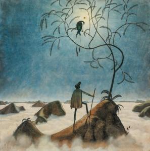 Franz Sedlacek. Peizažas su jūra rūke. 1921